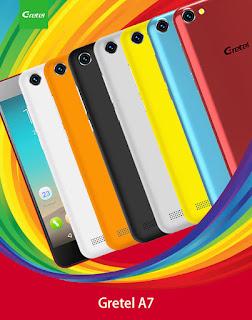 هاتف gretel a7 متوفر ب7 ألوان