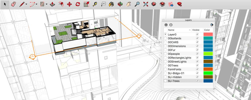 Software Aplikasi Alternatif Sketchup Pro - Sketchup Free