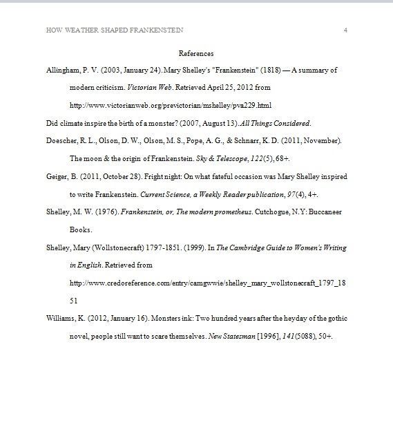 Research & Presentation Essay