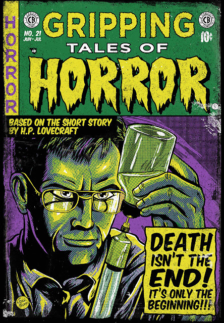 The Horrors Of Halloween Ec Comics Style Artwork Of