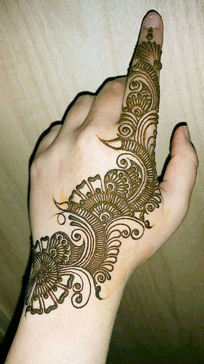 Simple Arebian Mehndi
