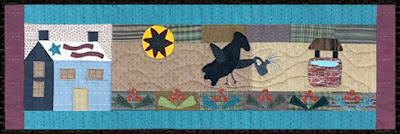 Crane Design by Jan Mott Wool Applique Penny Rug