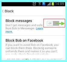 block facebook messenger android