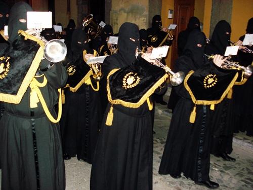 Agrupación musical de la cofradía de Nuestra Señora de las Angustias y Soledad. León. Foto G. Márquez