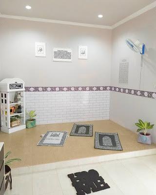 Desain Terbaru Mushola Minimalis Didalam Rumah Sederhana 7