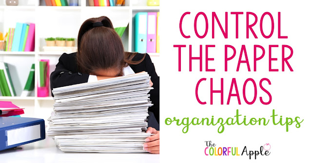 Have you ever found yourself under a mound of papers?  Do you feel as though your teacher desk is just completely covered in student work and meeting agendas and forms?  I know the feeling.  Here are some tips for tackling that giant pile.