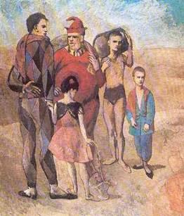 la familia de saltimbanquis