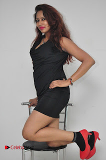 Model Sonia Pictures in Black Dress at Yes Mart Event  0029