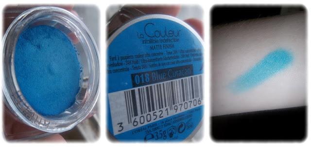 Swatch Fard à Paupière Color Infaillible Teinte 018 Blue Curacao - L'Oréal