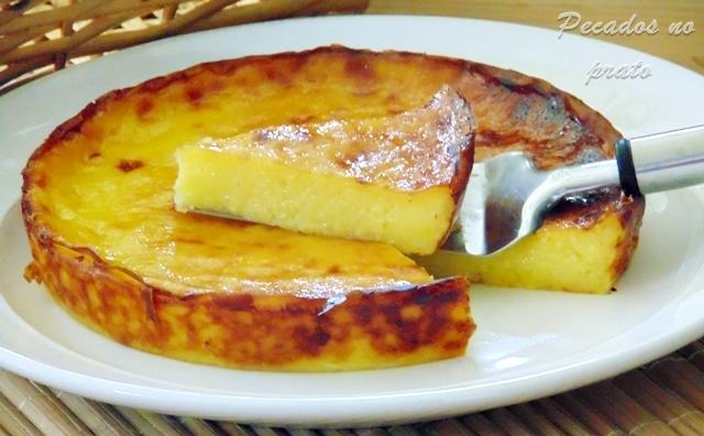 Tarte queijada de nata sem base