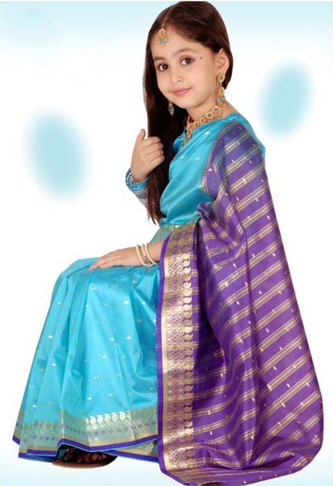 Tips Memilih Model Baju Sari India Anak 2016