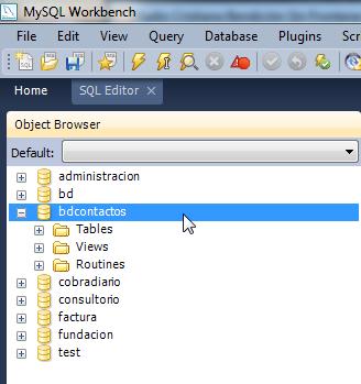 archivos que componen nuestra base de datos
