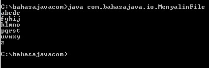 menyalin file Java dengan FileReader dan FileWriter