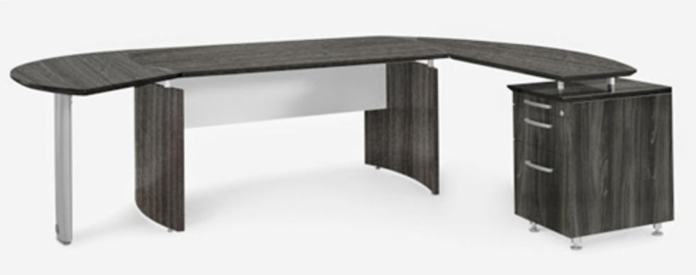 Mayline Medina Gray Steel Desk Suite