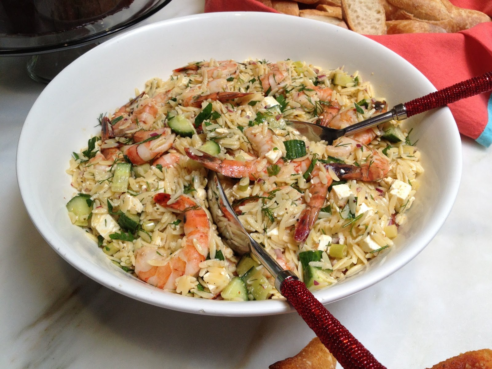 Grilled Striped Bass Recipes Barefoot Contessa two salads adapted from ina garten: roasted shrimp and orzo