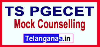 TS PGECET  2017 Mock Counselling