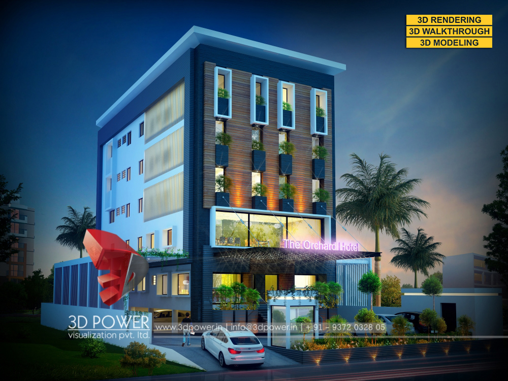 Township apartments design 3d rendering for Design hotel 3d