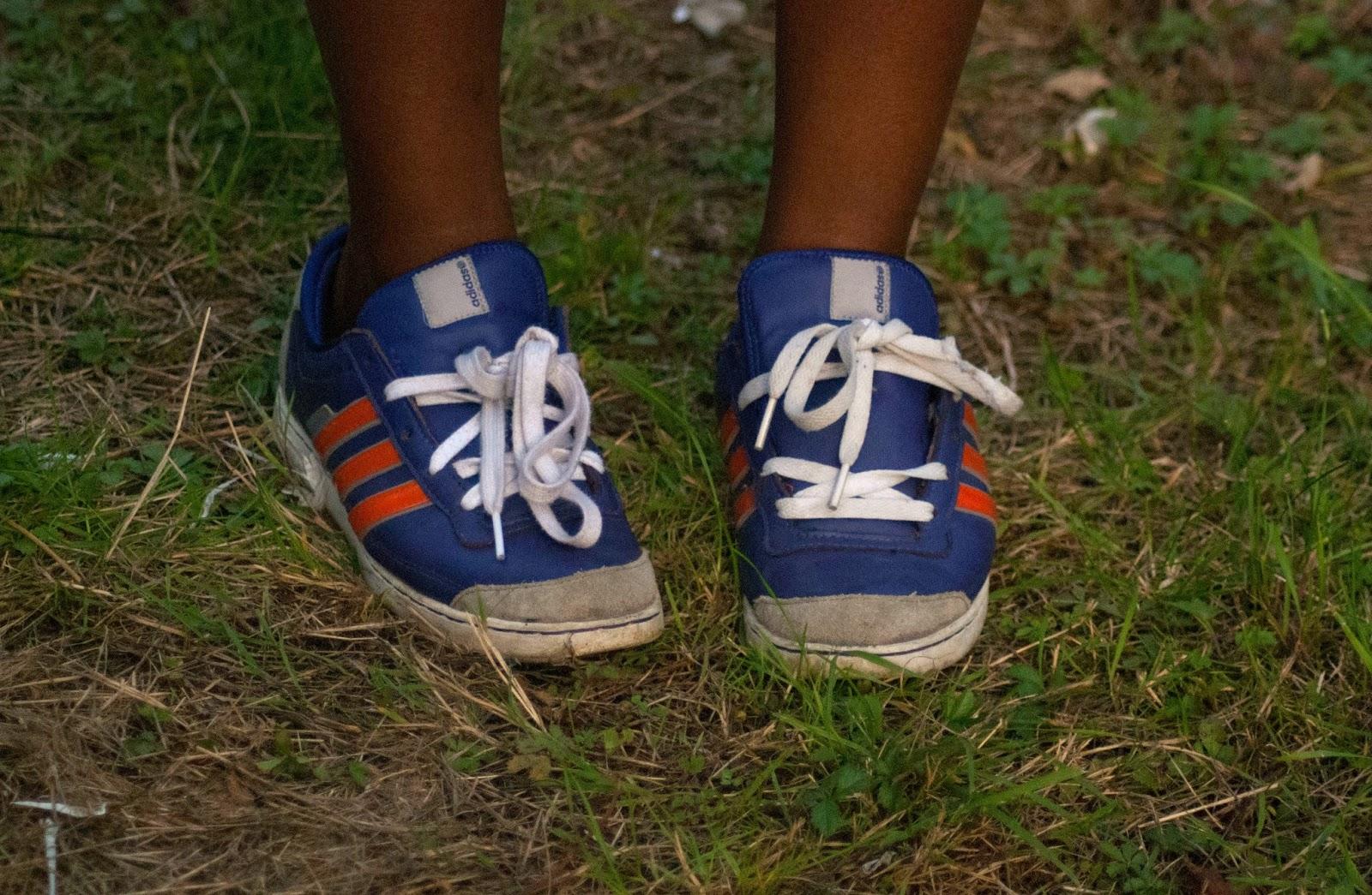 Adidas Orange and Purple Trainers - 100 Ways to 30