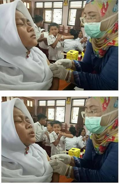 7 Foto Lucu Ekspresi Anak Sekolah Disuntik Imunisasi Ini Lucunya Bikin Gemes