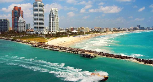 Praia em Miami