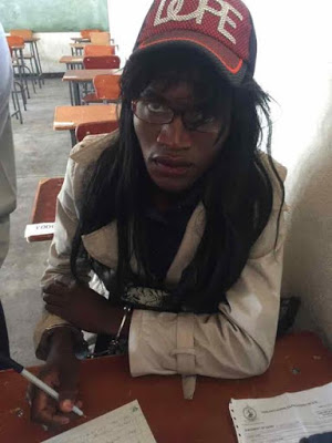 Zimbabwean man caught dressed as a woman to write exams for his girlfriend
