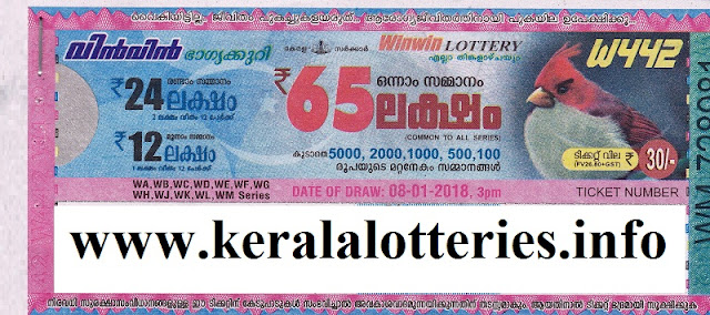 Win Win (W-442) Result on 08-January, 2018