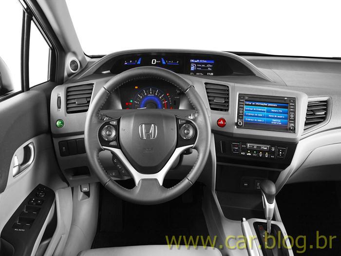 Novo Honda Civic 2012   Interior   Painel