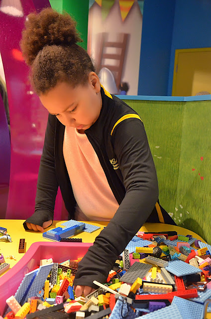 LEGOLAND Discovery Center Columbus building with LEGO Friends