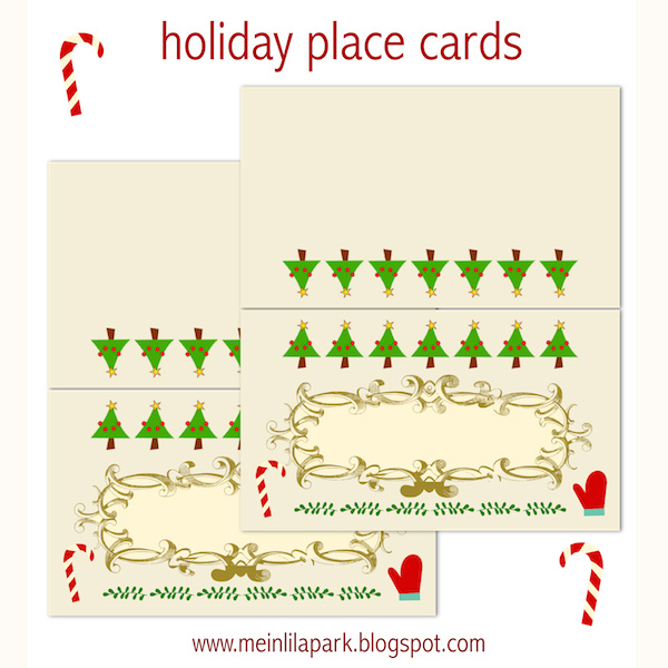 image regarding Free Printable Christmas Place Cards named Cost-free printable family vacation Area playing cards - ausdruckbare