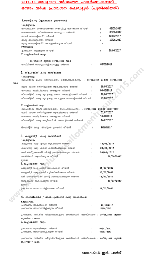 Kerala HSCAP has published revised admission schedule