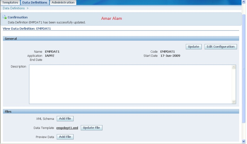 Data Template In Xml Publisher Amar Alam Oracle Apps
