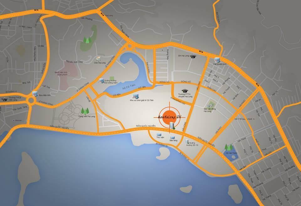 Vị trí đắc địa dự án chung cư Mon Bay Hạ Long