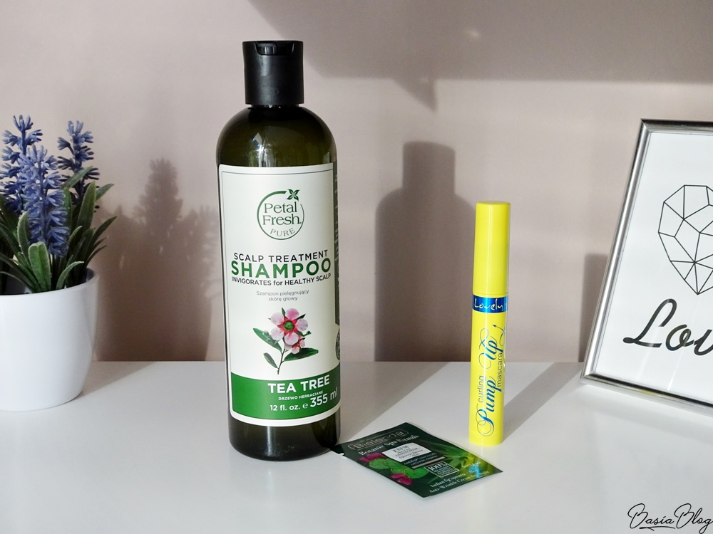 Petal Fresh Tea Tree Shampoo szampon, Lovely Pump Up tusz