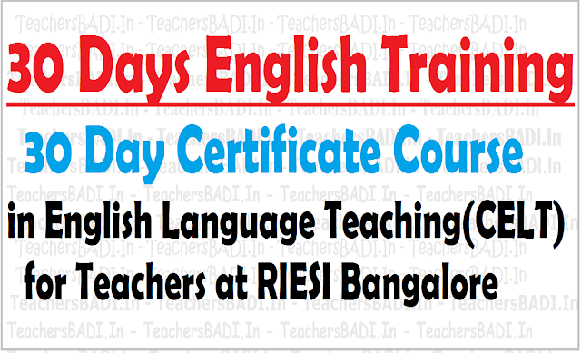 30 Days Certificate Course,30 days English training, Primary Teachers
