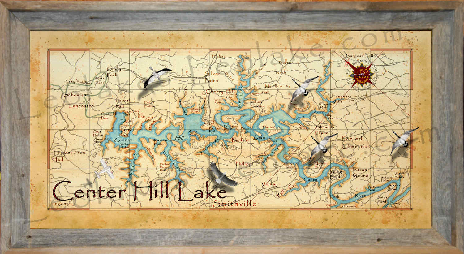 Leo Lakes: Lake map for the lake house on