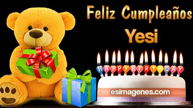 Feliz Cumpleaños Yesi