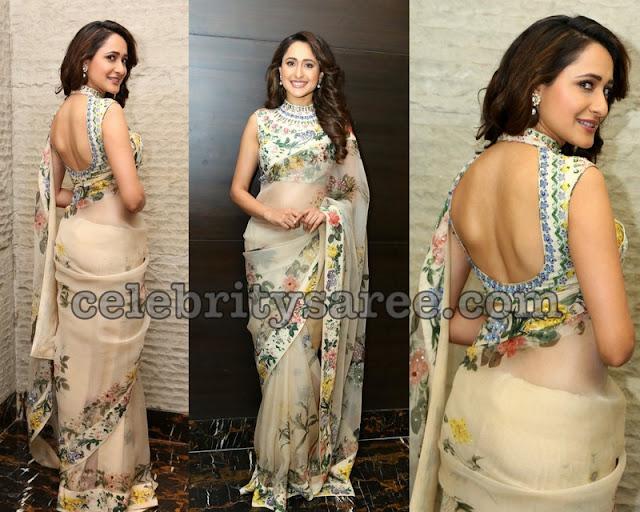 Pragya Jaiswal Floral Georgette Saree