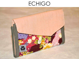 Portemonnaie Echigo aus japanischen Stoffen von Noriko handmade, handgemacht, Einzelstück, Unikat, Design, Geldbörse