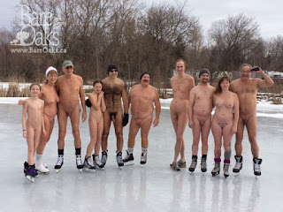Bare Oaks members skating in January 2016