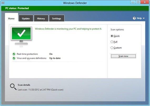Keep On Windows Built in Anti-Malware