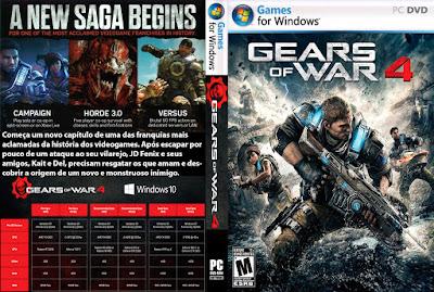 Jogo Gears of War 4 PC DVD Capa