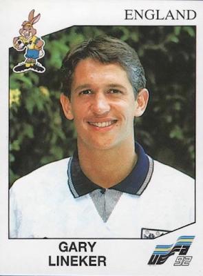 Figurina Gary Lineker Euro '92
