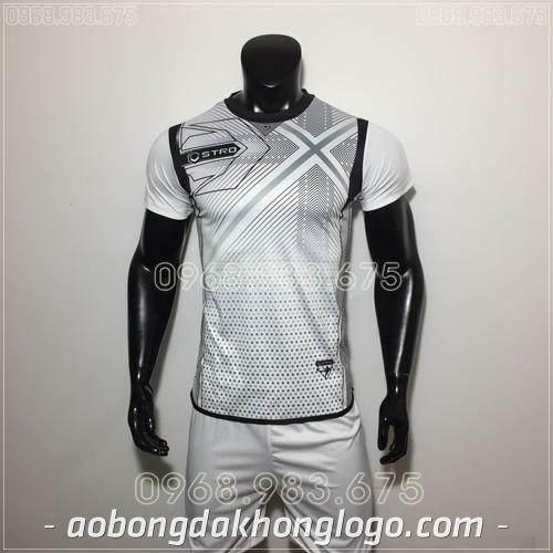 Áo bóng đá không logo Stro HQN Naldo màu trắng
