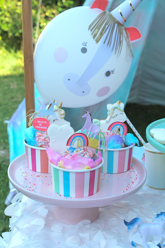 I Made Simple White Balloons Look Like Unicorns By Using A Unicorn Balloon Kit They Were Pretty Easy To Emble And Added Sweet Touch As The