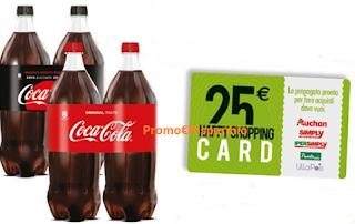 Logo Coca-Cola : compra e vinci 240 Shopping card da 25 euro