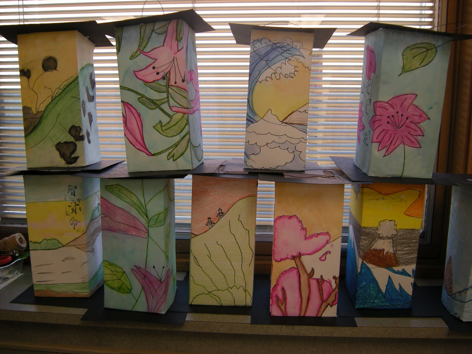 What S Happening In The Art Room 5th Grade Asian Lanterns