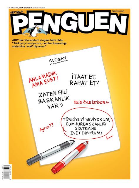 Penguen Dergisi | 25 Ocak 2017 Kapak Karikatürü