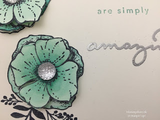 Flower from Amazing You stamp set with Clear Faceted Gem