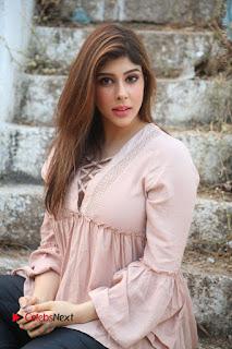 Telugu Actress Aditi Singh Stills in Leather Pants at Nenu Kidnap Iyanu Movie Press Meet  0158.JPG