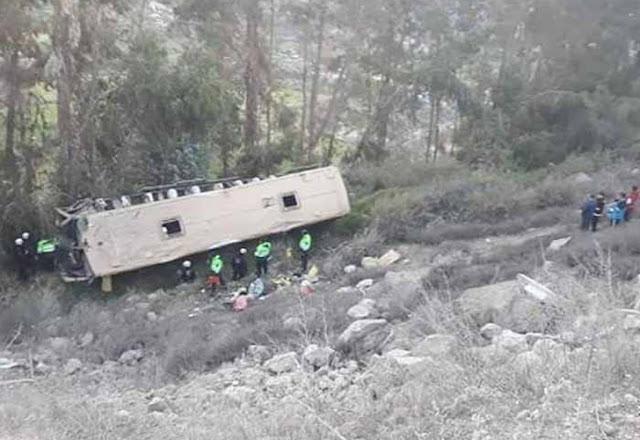 Autobús se sale de la carretera y deja 8 muertos y 38 heridos en el sur de Perú